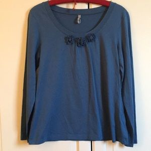Hanna Andersson blue shirt. Size m